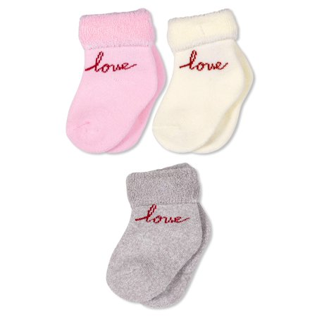 3-Pack Full Terry Cuffed Socks (Infant) ()
