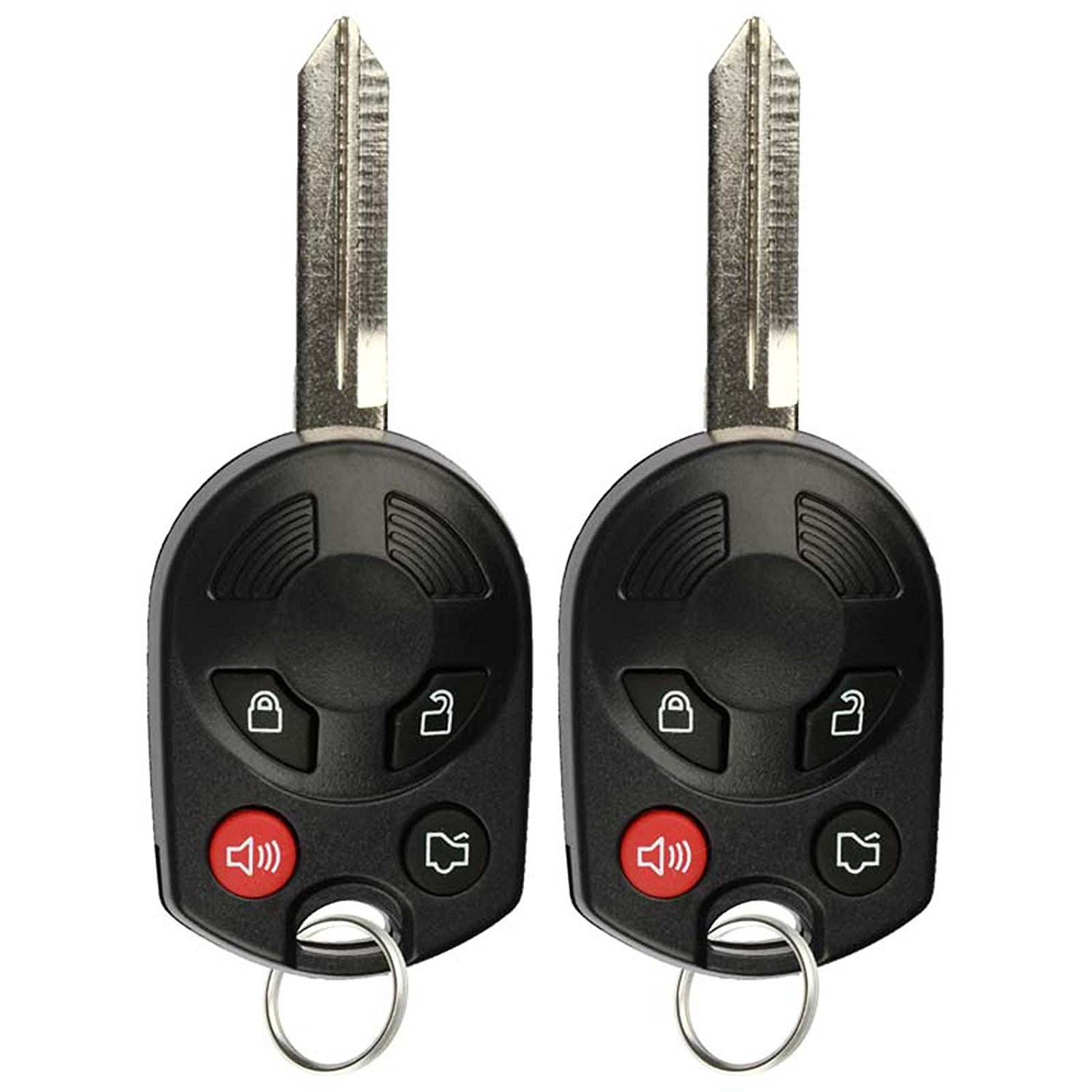 2 PACK KeylessOption Keyless Entry Remote Control Car Key Fob Replacement OUCD6000022 for Mercury Lincoln Ford Mazda
