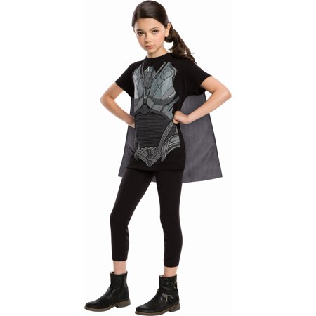 Superman Man Of Steel Faora Costume Top & Cape Child