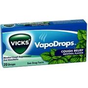 Vicks VapoDrops Cough Relief Drops Menthol Flavor 20 Each [case of 20] (Pack of 2)