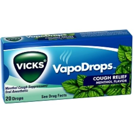 Vicks VapoDrops Cough Relief Drops Menthol Flavor 20