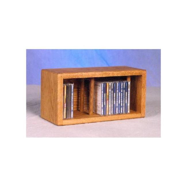 Wood Shed 103-1 Solid Oak desktop or shelf CD Cabinet