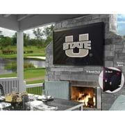 Holland Bar Stool TV40UtahSt Utah State University Vinyl TV Cover, Black