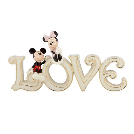Lenox Mickey and Minnie True Love Figurine with Gold Accents