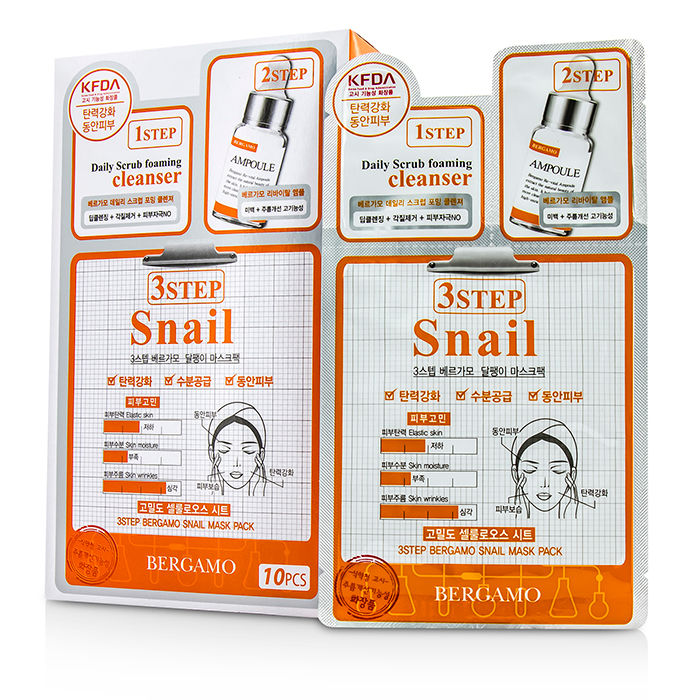 Bergamo - 3Step Bergamo Mask Pack - Snail - 10pcs