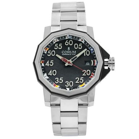 Corum Admirals Cup Black Arabic Dial Automatic Mens Watch A082/03375
