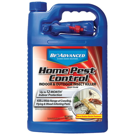 BioAdvanced Home Pest Control Indoor & Outdoor Insect Killer, Ready-to-Use, 1-Gallon