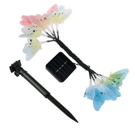 Butterfly Solar String Lights Outdoor, 12 LED Waterpoof LED Solar Butterfly  Lights Outdoor Indoor for Bedroom