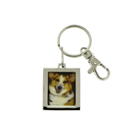 Picture Frame Keychain With Sample Dog Picture KEKC6162