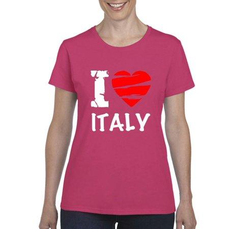 6bf9b141401 Artix - Italy T-Shirt I Love Italy Artix Women's T-shirt Tee Clothes ...