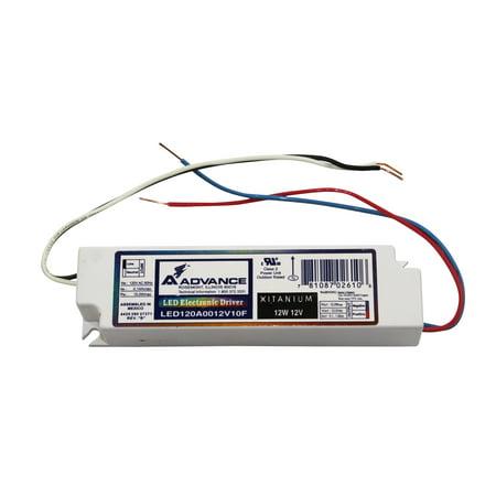 Sodium 120v Wall Mount (Advance Ballasts LED120A0012V10FM Led Electronic Driver 12W 12V 120V 60Hz Xtanium )