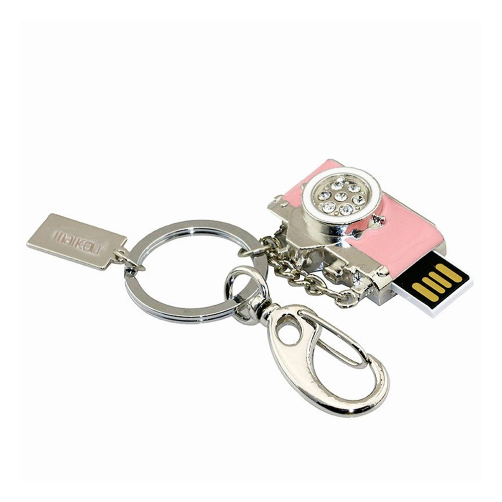 Lightweight Metal Waterproof USB2.0 USB Flash Drive Cute Camera Shape Super Stable USB Flash Drive Pendrive Best Gift On Sale