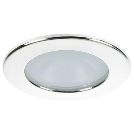 Quick Kai XP Downlight LED - 4W, IP66, Spring Mounted - Round White Bezel, Round Warm White Light