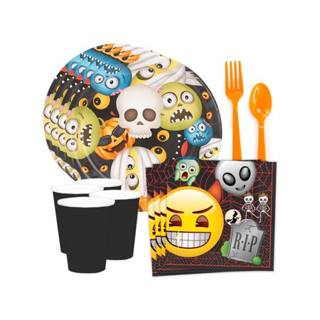 Emoji Halloween Standard Tableware Kit (Serves 8)](Halloween Emoji Text)