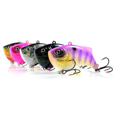 65mm 14g Artificial Hard VIB Bait Crankbait 3D Eyes Lifelike Sinking Fishing Lures Hook with Treble Hooks - image 3 of 7