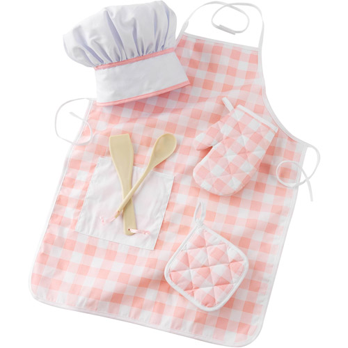 KidKraft Tasty Treats Chef Accessory Set, Pink with 6 Pieces