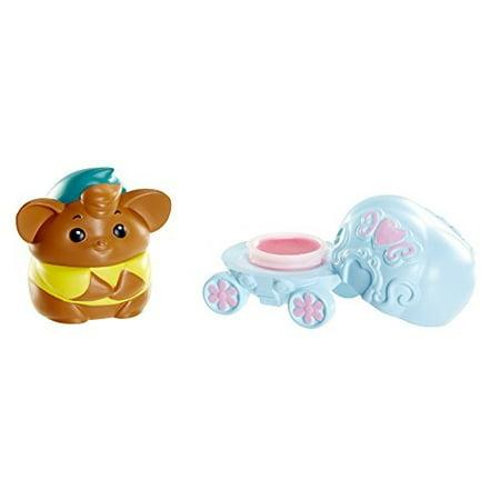 Disney Princess Little Kingdom Fairytale Friends Cinderella Lipgloss - Carriage and Gus Gus Pretend Makeup - Cinderella Make Up