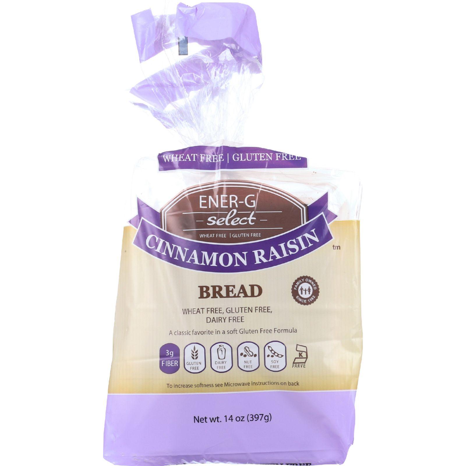 Ener-G Foods Bread Select Cinnamon Raisin 14 oz case of 6 by