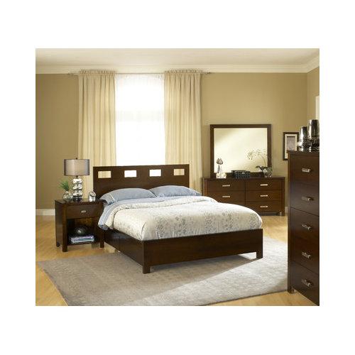 Bundle-40 Modus Riva Panel Customizable Bedroom Set (4 Pieces)