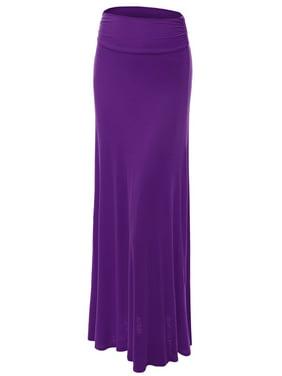 MBJ Womens Lightweight Floor Length Maxi Skirt
