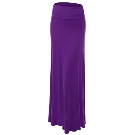 Lightweight Velvet Skirt (MBJ Womens Lightweight Floor Length Maxi Skirt )