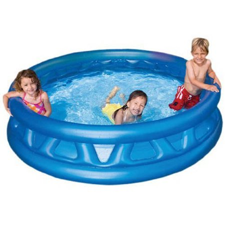 Intex inflatable soft side kids pool 74 x 18 for Children s garden pools