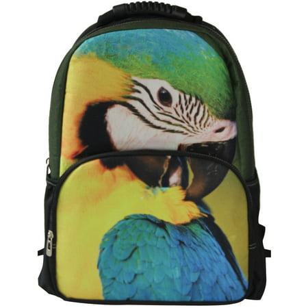 Felt Bird (Red Parrot Bird Backpack 3D Deep Stereographic on Felt Fabric )