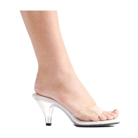 Ellie Shoes E-305-Vanity 3 Heel Clear Mule Clear / 7](Clear Stripper Shoes)