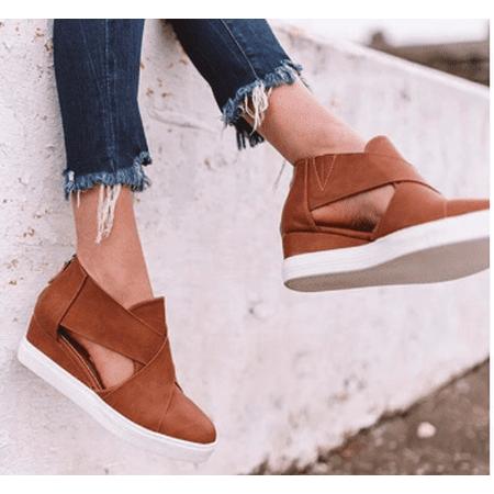 Flipmoda 2019 Fashion Stylish Wedge Sneakers (Best Shoes For Marathon 2019)