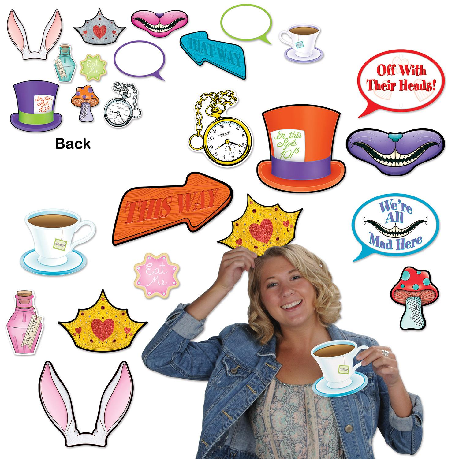 Club Pack of 144 Alice In Wonderland Photo Fun Party Signs