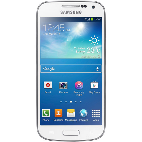 Samsung Galaxy S4 Mini DUOS I9192 Android Dual-SIM Phone (Unlocked), White Frost