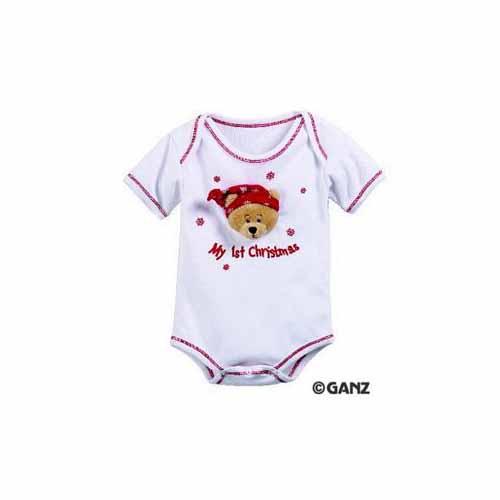 My 1st Christmas Diaper Shirt - Newborn by Ganz - HX10504