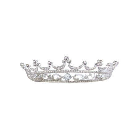 Simplicity Pageant Queen Tiara Crown Rhinestones Crystal Bridal Wedding, - Queen Crowns And Tiaras