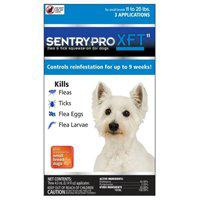 Sentry Pro XFT 11 Flea and Tick Squeeze-On, 3 Count, Liquid, Clear