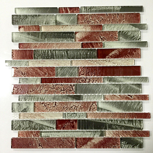 EKBInnovations Upscale Designs 12-inch Glass Mesh-Mounted Mosaic Wall Tile (6 sheets) 6