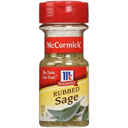 McCormick Rubbed Sage 0.50 oz (Pack of 4)