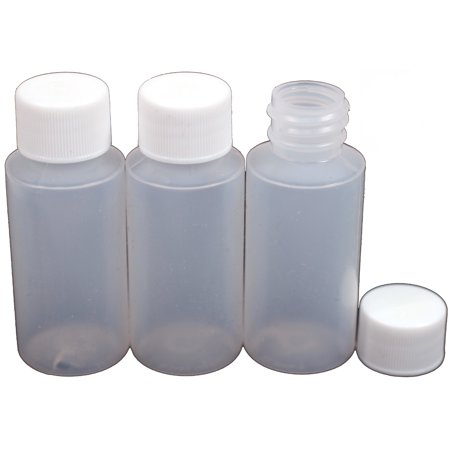 Emulsion Paint - Creative Hobbies 1 Ounce Empty Plastic Bottles, LDPE Easy Squeeze Plastic, With White Caps, For Paint Makeup Emollient Water Shower Gel Emulsion Liquid Cosmetic Container, Pack of 12