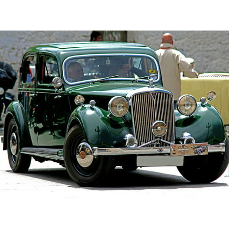 - Canvas Print Car Show Rover Antique Car Rally Spain Green Stretched Canvas 10 x 14