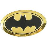 DC Comics Originals Batman Logo On Embossed Metal Emblem Sticker, Yellow, 4cm