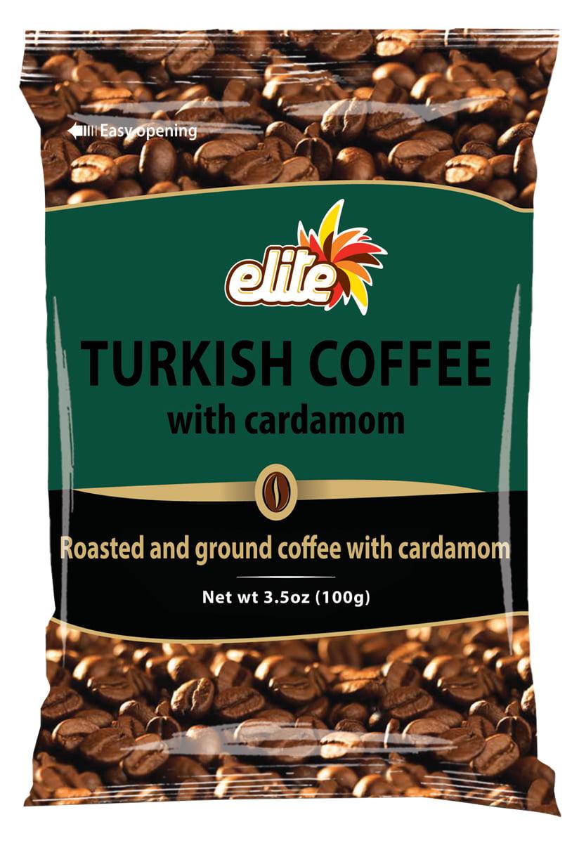 (3 Pack) Elite Turkish Coffee, with Cardamon, 3.5 Oz