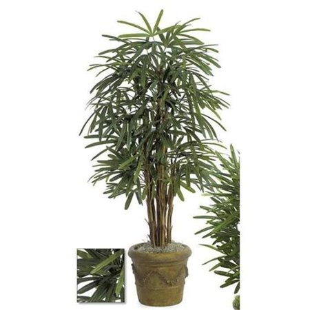 Embroidered Autograph - Autograph Foliages W-1540 - 5 Foot Lady Palm Tree - Green