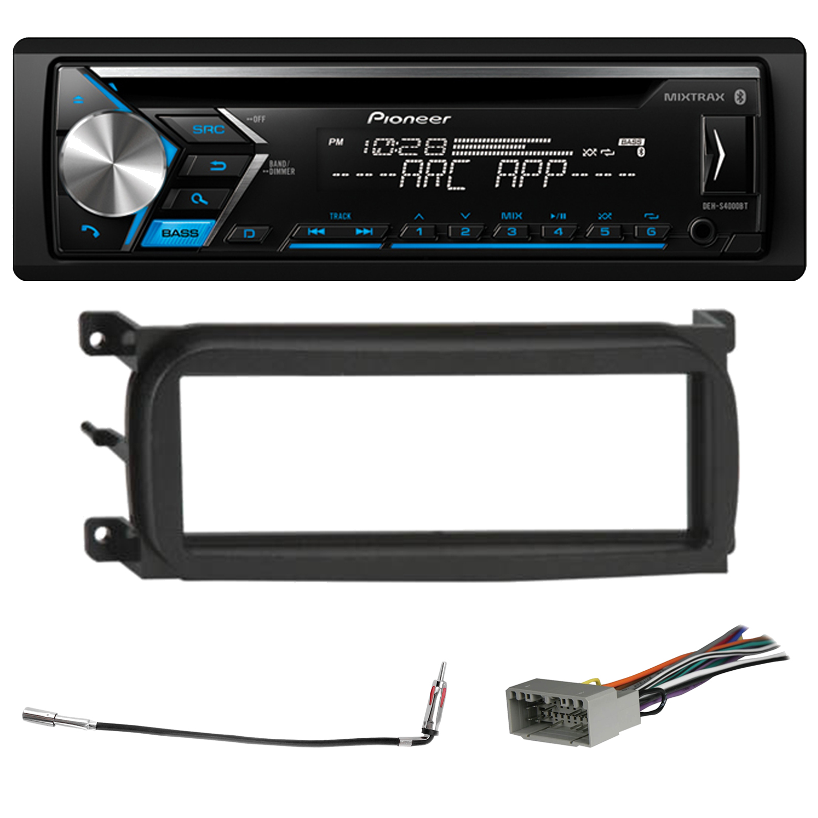 Pioneer DEH-S4000BT Bluetooth In-Dash CD Car Stereo Audio...