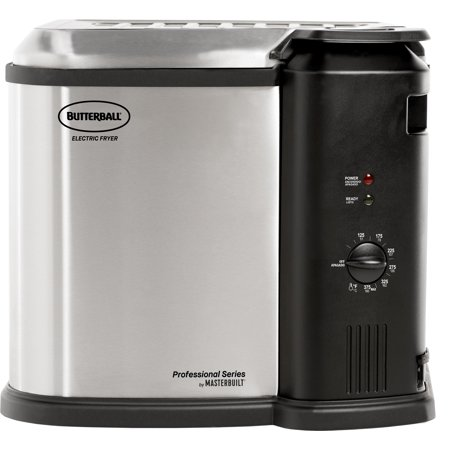Masterbuilt Butterball XL 1650W Electric 20 lb Turkey Fryer, Stainless (Butterball Electric Turkey Fryer Not Turning On)