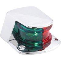 Attwood 6375D6 ZAMAK 1-Mile Sidelights, Bi-Color Combination, Deck Mount, Provides 1-Mile, 225-Degrees Light Visibility, 12V