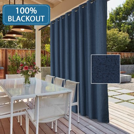 Pleasant Extra Long And Wide Outdoor 100 Blackout Curtains Rich Textured Linen Waterproof Patio Door Panel Anti Rust Grommet Home Fashion Window Panel Drapes Home Interior And Landscaping Oversignezvosmurscom
