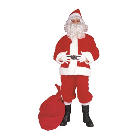 Santa Claus Suit Polyester Plus Size Costume - Santa Claus Coat