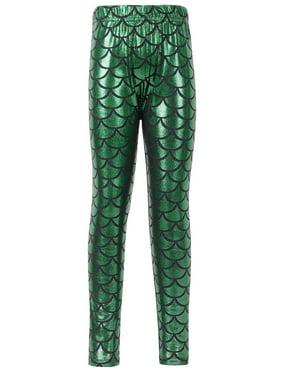 87167df665d Product Image Simplicity Kids Mermaid Fish Scale Print Full Length Leggings  Pants
