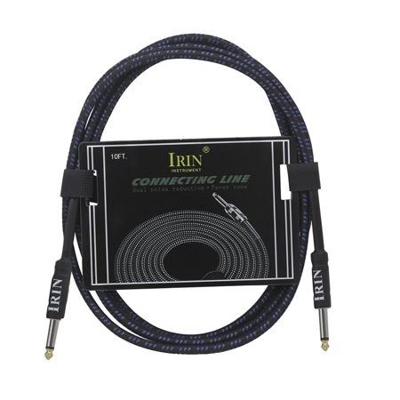 Electric Guitar Bass Cable Musical Instrument Audio Cable 1/4 Inch to 1/4 Inch TS Straight Plugs, 3 Meters/ 10 Feet - image 5 of 6