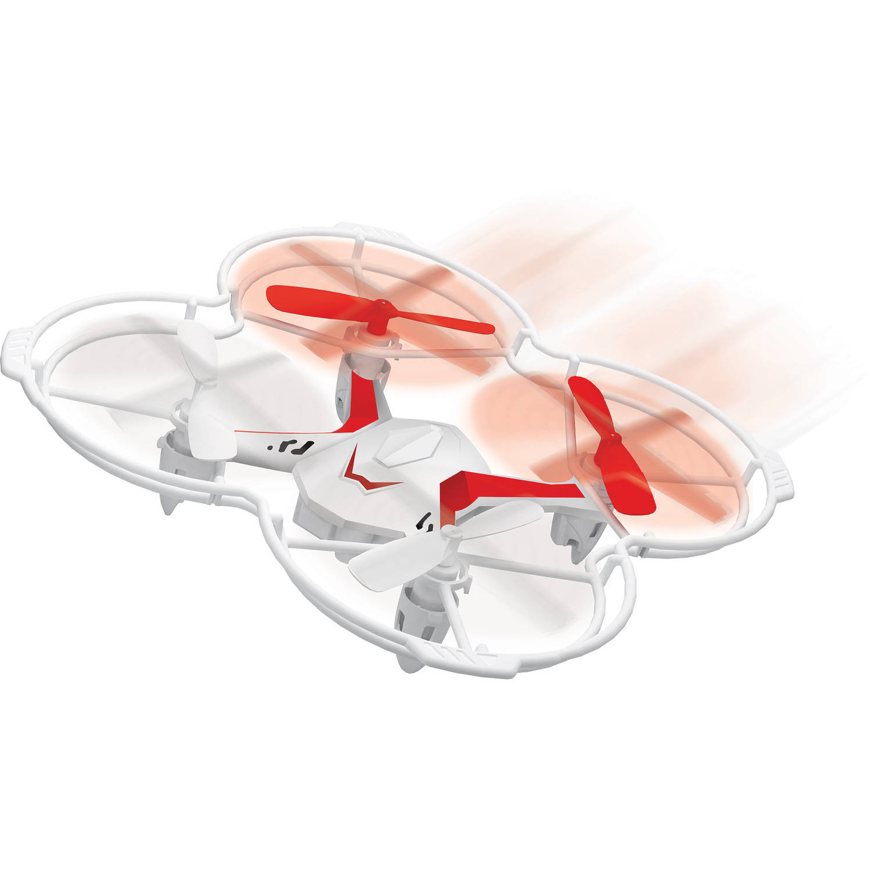 Quadrone Voice Assist Quadcopter White/Red AW-RCQ-VC