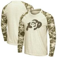 Colorado Buffaloes Colosseum OHT Military Appreciation Desert Camo Raglan Long Sleeve T-Shirt - Oatmeal